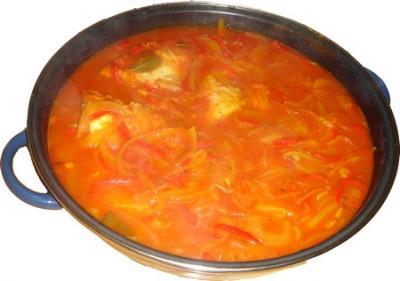 Fogonero en salsa riojana